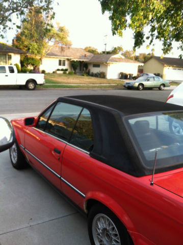bmw 3 series convertible 1991 red for sale wbabb1313mec04040 1991 bmw e30 325i convertible w. Black Bedroom Furniture Sets. Home Design Ideas