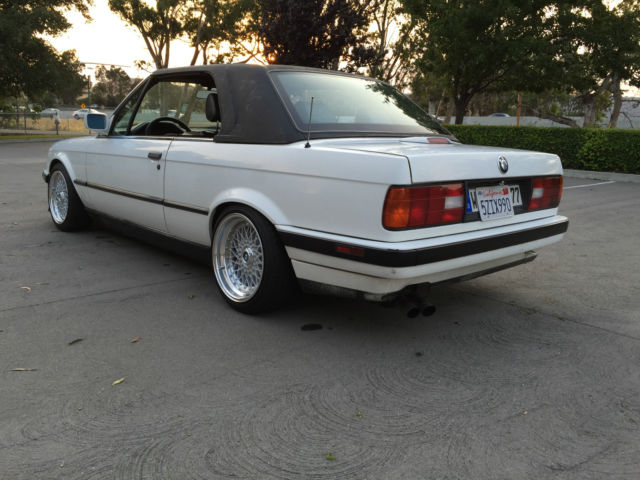 bmw 3 series convertible 1991 white for sale wbabb1318nec06139 1991 bmw e30 325i hard top. Black Bedroom Furniture Sets. Home Design Ideas