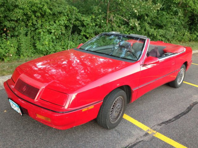 Chrysler lebaron convertible 1991 red for sale 1c3xj4531mg163828 for sale 1991 chrysler lebaron gtc sciox Image collections