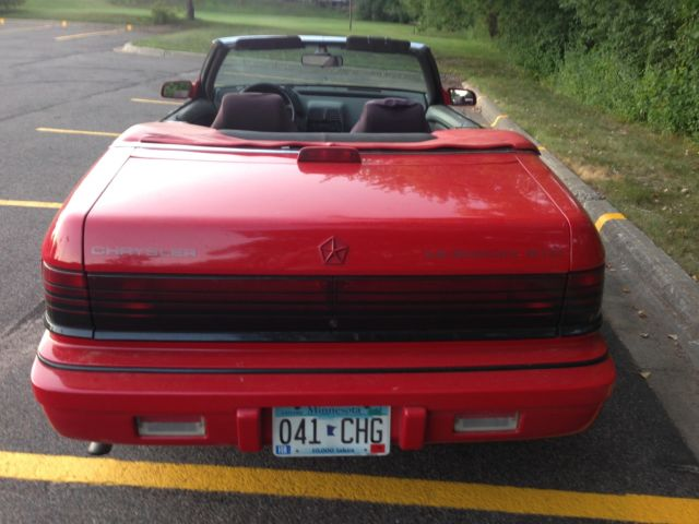Chrysler lebaron convertible 1991 red for sale 1c3xj4531mg163828 for sale 1991 chrysler lebaron gtc sciox Choice Image