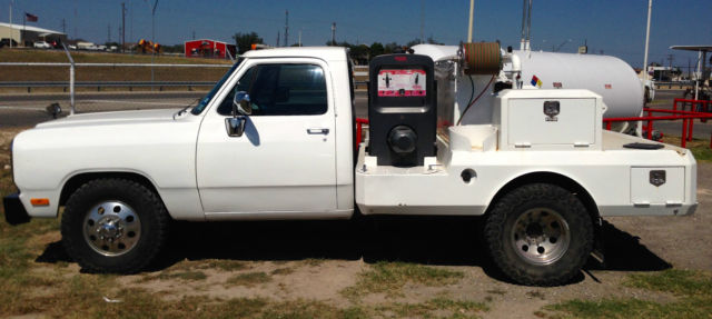 Dodge Ram 3500 Standard Cab W Welding Bed 1991 White For Sale