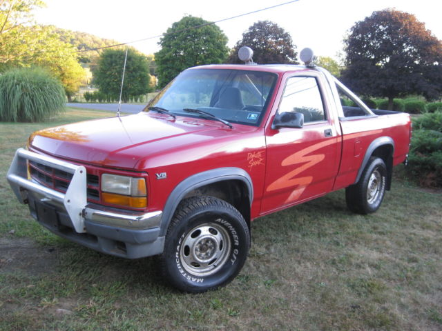 dodge dakota standard cab pickup 1991 red for sale 1b7gg66y9ms280621 1991 dodge dakota sport. Black Bedroom Furniture Sets. Home Design Ideas