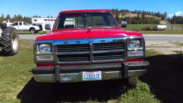 Dodge ram 2500 standard cab pickup 1991 red for sale for Dodge ram motor for sale