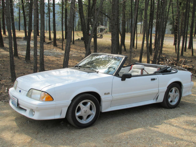 ford mustang convertible white. for sale 1991 ford mustang gt convertible white