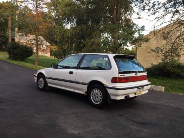 honda civic hatchback 1991 white for sale. Black Bedroom Furniture Sets. Home Design Ideas