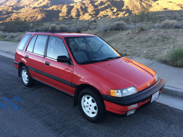 honda civic wagon 1991 rio red for sale jhmee4761ms002521 1991 honda civic rt4wd wagon 6 speed. Black Bedroom Furniture Sets. Home Design Ideas