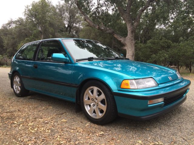 honda civic hatchback 1991 green for sale. Black Bedroom Furniture Sets. Home Design Ideas
