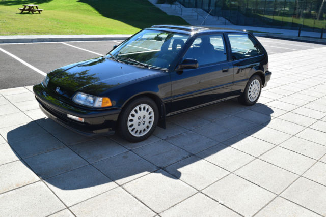 Honda Civic Hatchback 1991 Black For 2hged736xmh008077 Si Very Rare Low Mileage Original Condition
