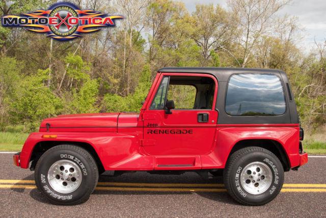 jeep wrangler suv 1991 red for sale 2j4fy69s3mj127498 1991 jeep wrangler renegade optional. Black Bedroom Furniture Sets. Home Design Ideas