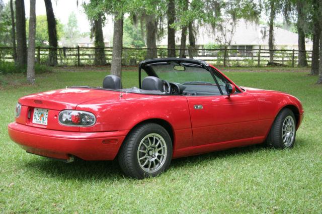 Mazda Mx 5 Miata Convertible 1991 Red For Sale