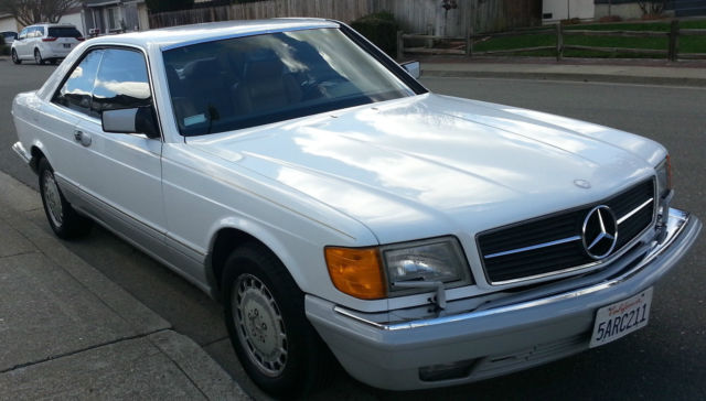 Mercedes benz 500 series coupe 1991 white for sale for 1991 mercedes benz 560sec for sale