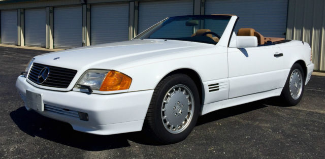 Mercedes Benz Sl Cl Convertible 1991 White For Wdbfa61e1mf021445 300sl W Hardtop Only 42000mi Extra Clean 42k