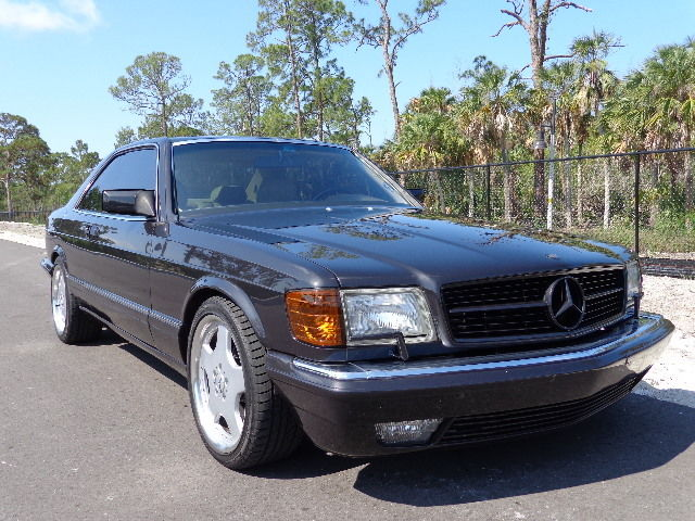 Mercedes benz 500 series coupe 1991 black for sale for Mercedes benz 560 sec amg for sale