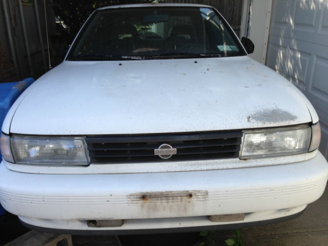 nissan sentra coupe 1991 white for sale 1n4gb32a4mc721321. Black Bedroom Furniture Sets. Home Design Ideas