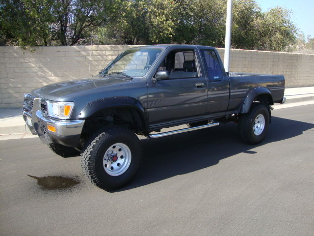 toyota tacoma extended cab pickup 1991 gray for sale. Black Bedroom Furniture Sets. Home Design Ideas