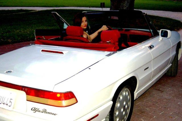 Alfa Romeo Spider Convertible White For Sale ZARBBNM - 1991 alfa romeo spider for sale