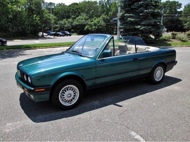 Bmw 3 Series Convertible 1992 Green For Wbabb2316nec28856 325i 1 Owner Rare Find Low Miles Sharp Color Super Clean