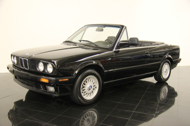 Bmw 3 Series Convertible 1992 Jet Black For Wbabb2310nec29940 325i 71k Miles Owner Clean Carfax Rear