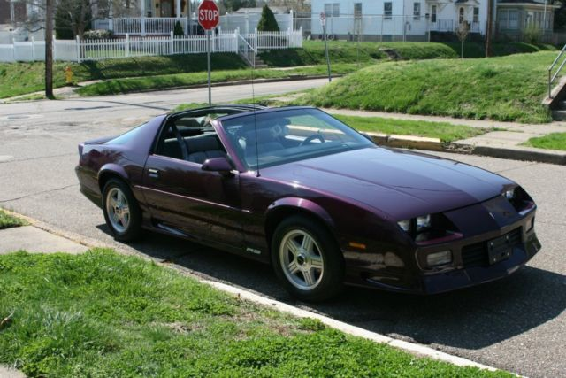 chevrolet camaro t tops 1992 purple for sale. Black Bedroom Furniture Sets. Home Design Ideas