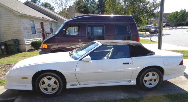 Chevrolet Camaro Convertible 1992 Arctic White For Sale