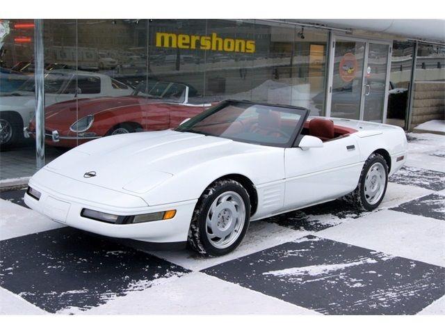 Chevrolet Corvette Convertible 1992 White For Sale