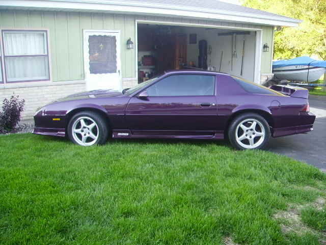 chevrolet camaro coupe 1992 purple for sale 1g1fp2387nl124588 1992 chevy camaro z28 25th. Black Bedroom Furniture Sets. Home Design Ideas