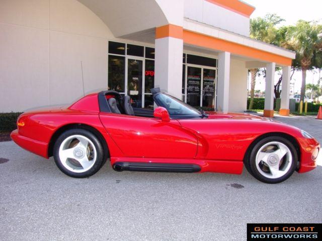 dodge viper convertible 1992 red for sale 1b3br65e0nv100181 1992 dodge viper rt 10 6 speed. Black Bedroom Furniture Sets. Home Design Ideas