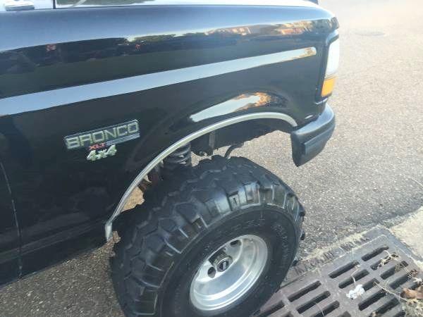 Ford Bronco SUV 1992 Black For Sale. 1FMEU15H6NLA22567 ...
