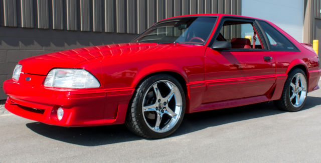 ford mustang coupe 1992 red for sale 1facp42e6nf100056 1992 ford mustang gt 5 0 five speed mint. Black Bedroom Furniture Sets. Home Design Ideas