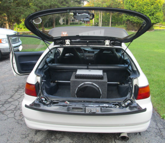 Honda Civic Hatchback 1992 White For Sale