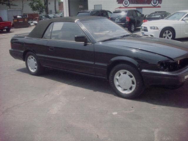 Infiniti M30 Convertible 1992 BLACK For Sale JNXHF16C1NT010754 1992