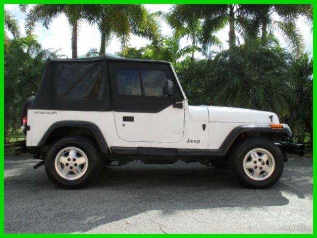 Jeep Wrangler SUV 1992 White For Sale 2J4FY29S6NJ560324 1992 JEEP