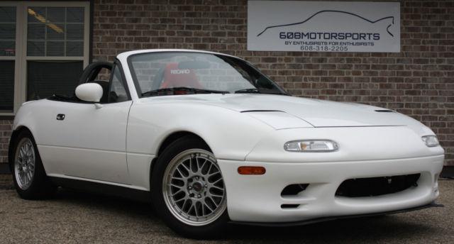 mazda mx 5 miata convertible 1992 white for sale jm1na3518n1316429 rh findclassicars com 1992 mazda miata manual free 1991 mazda miata manual window regulator