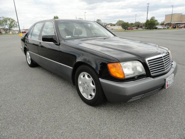 Mercedes benz s class sedan 1992 black for sale for 1992 mercedes benz 600 class