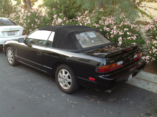nissan 240sx convertible 1992 black for sale jn3ms36a5nw100882 1992 nissan 240sx limited. Black Bedroom Furniture Sets. Home Design Ideas