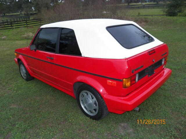 Volkswagen Cabrio Convertible 1992 Red For Sale