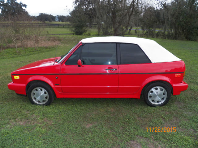 volkswagen cabrio convertible  red  sale wvwcbnk  vw golf rabbit cabriolet
