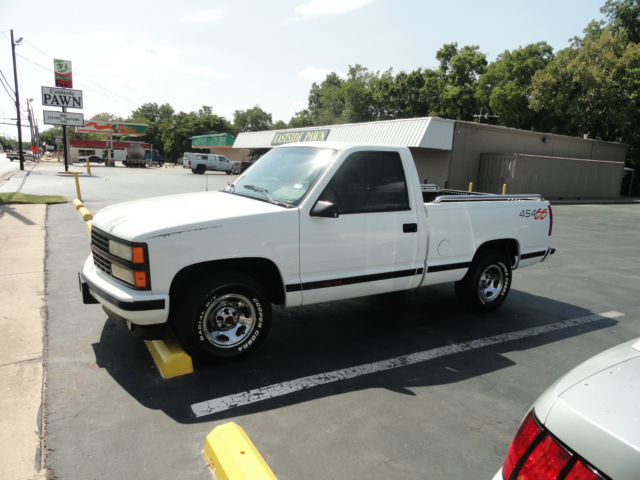 chevrolet silverado 1500 standard cab pickup 1993 white for sale 1gcdc14n2pz255730 1993. Black Bedroom Furniture Sets. Home Design Ideas