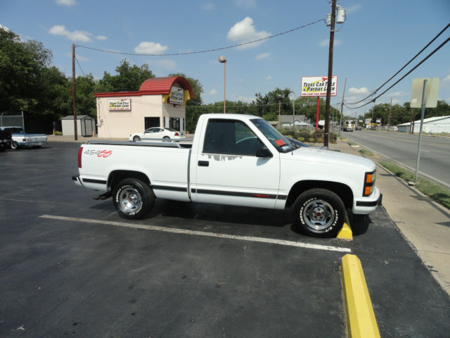 Chevrolet Silverado 1500 Standard Cab Pickup 1993 White For Sale