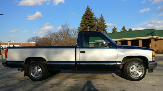 1999 Chevy Silverado For Sale >> Chevrolet C/K Pickup 1500 1993 Blue For Sale