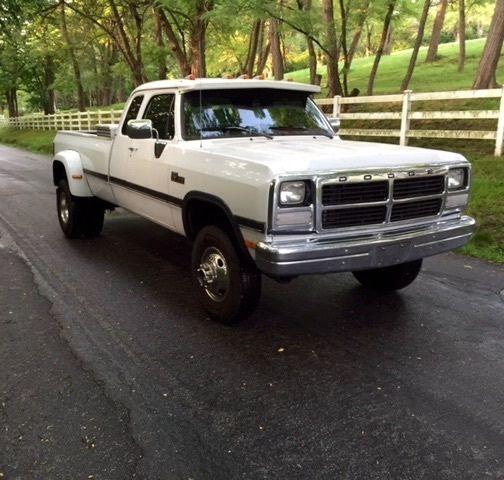 1996 Dodge Ram 3500 Club Cab Transmission: Dodge Ram 3500 Extended Cab Pickup 1993 White For Sale