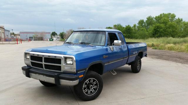 dodge ram 2500 extended cab pickup 1993 blue for sale 3b7km23c6pm115742 1993 dodge ram first. Black Bedroom Furniture Sets. Home Design Ideas