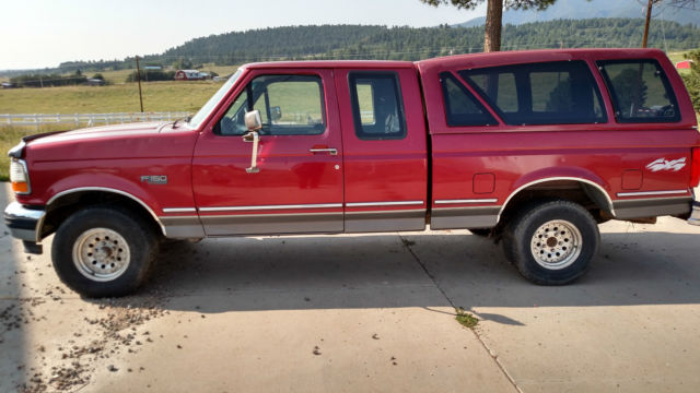 Ford F 150 Extended Cab Pickup 1993 Red For Sale 1ftex14h2pka00393