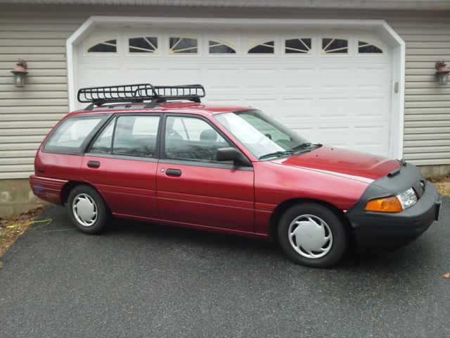 ford escort wagon 1993 stawberry red for sale 1fapp15j5pw368446 1993 ford escort lx wagon 5. Black Bedroom Furniture Sets. Home Design Ideas