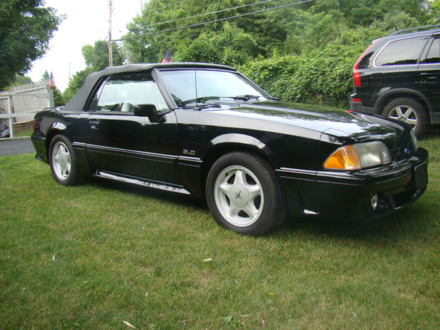ford mustang convertible 1993 black for sale 1facp45expf105243 1993 ford mustang gt 5 0. Black Bedroom Furniture Sets. Home Design Ideas