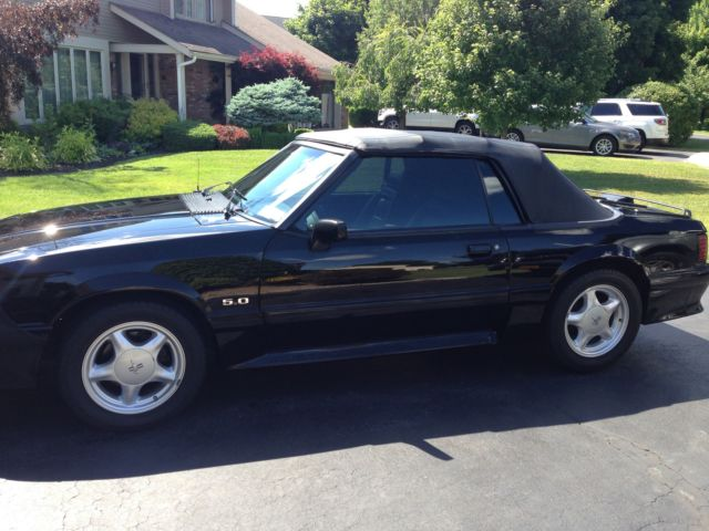 ford mustang convertible 1993 black for sale 1facp45e3pf167602 1993 ford mustang gt 5 0. Black Bedroom Furniture Sets. Home Design Ideas
