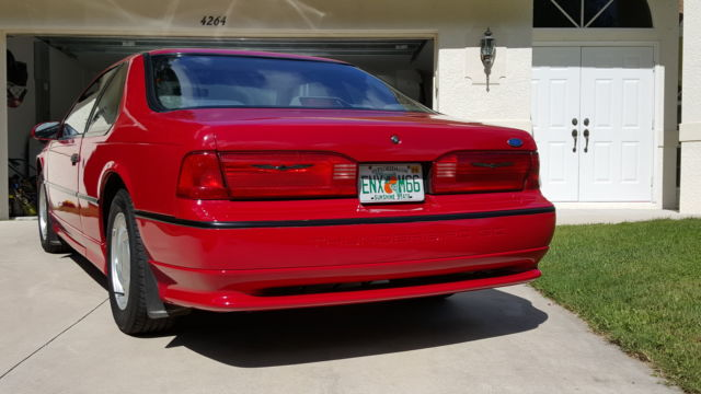 ford thunderbird coupe 1993 red for sale 1fapp64r2ph180833 1993 ford thunderbird super coupe. Black Bedroom Furniture Sets. Home Design Ideas
