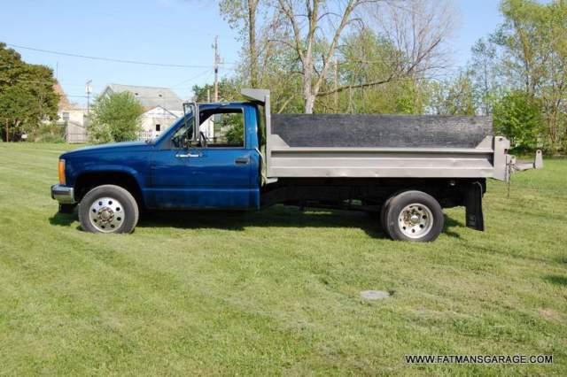 gmc sierra 3500 regular cab 1993 blue for sale 1gdhk34f0pe546416 1993 gmc k3500 sierra dump. Black Bedroom Furniture Sets. Home Design Ideas