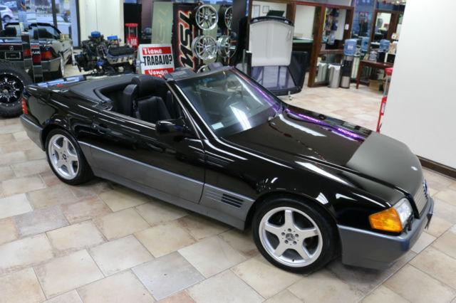 Mercedes benz sl class convertible 1993 black for sale for 1993 mercedes benz 500 class