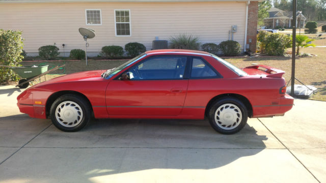 Nissan 240sx Coupe 1993 Red For Sale  Jn1ms34p1pw305263 1993 Nissan 240sx Se Coupe 2
